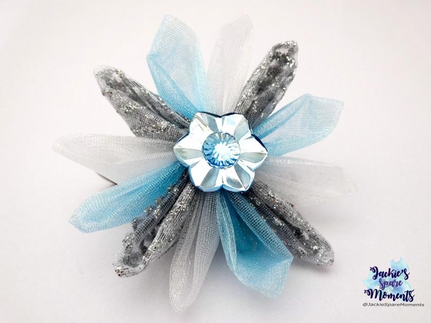 Hair clip frozen inspired, Queen Elsa style