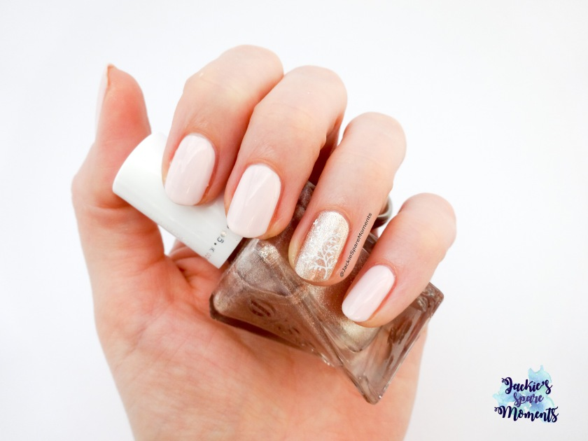 Nail art with Essie Gel Couture Bridal collection ' To have and to gold'