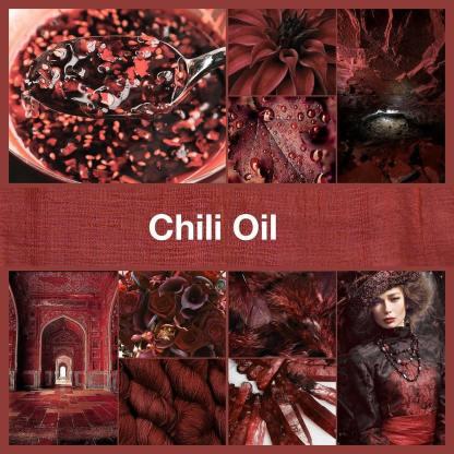 Chili Oil inspirational collage by thenailpolishhoarder