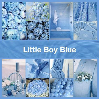 Little Boy Blue inspirational collage by thenailpolishhoarder