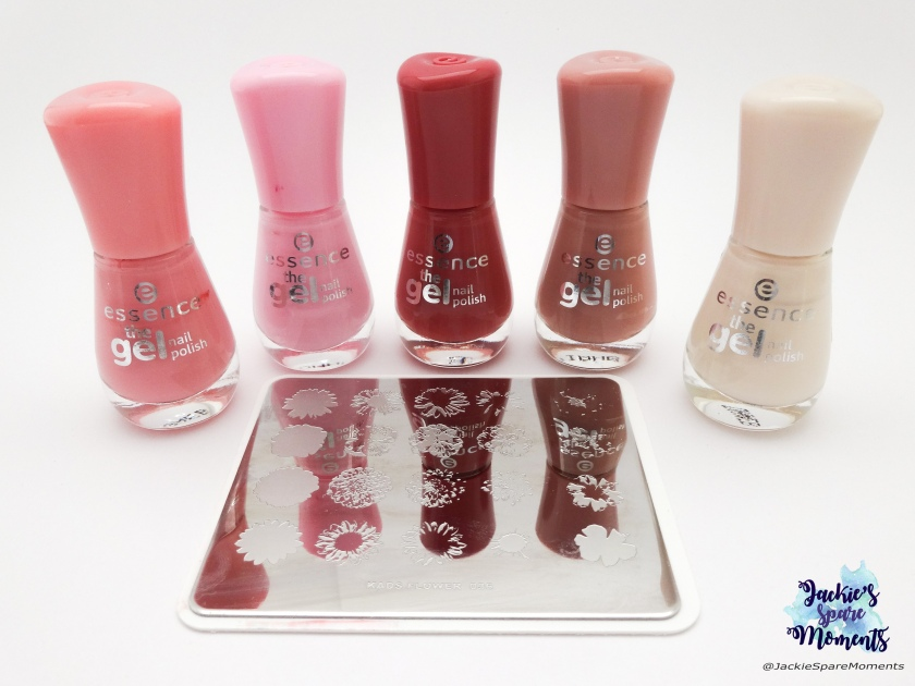 Essence the gel nail polish in 13 forgive me, 55 be awesome tonight, 48 my love diary, 107 rosewood forest, 54 dream on. KADS Flower 036.