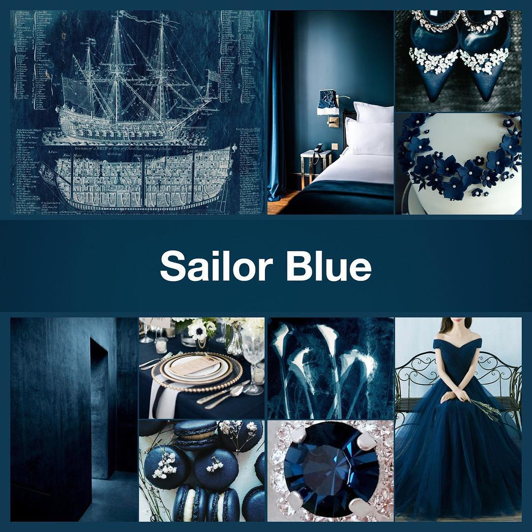 Inspirational collage Sailor Blue by TheNailPolishHoarder