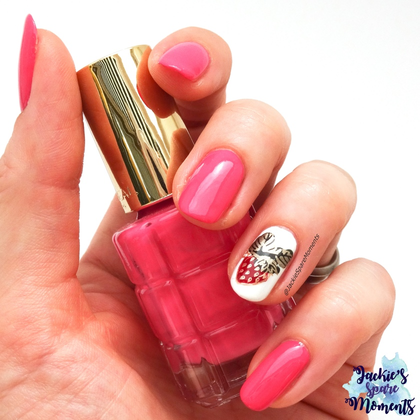 #wirlackierendenSommerbunt So ein Früchtchen, summery nail art with strawberry