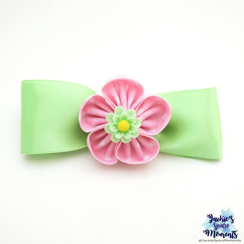 Back to school floral hair bow