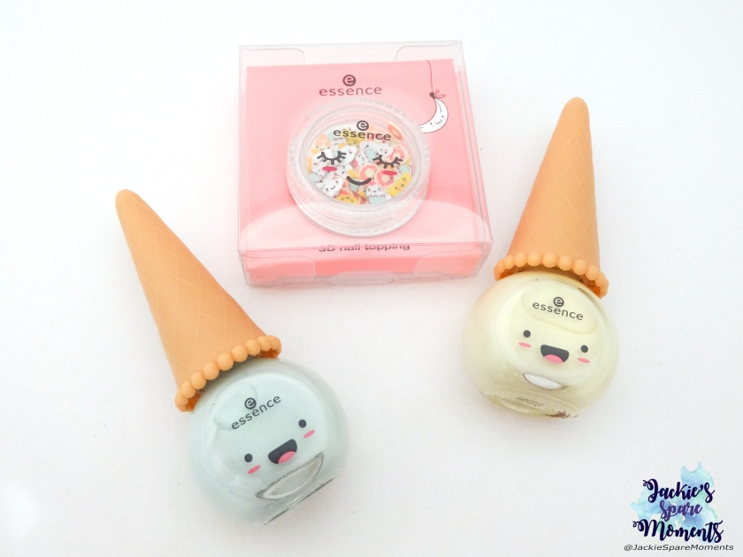 essence Happy Kawaii, essence 03 uni-cone, essence 01 you're my flavourite, essence happy kawaii 3d nail topping