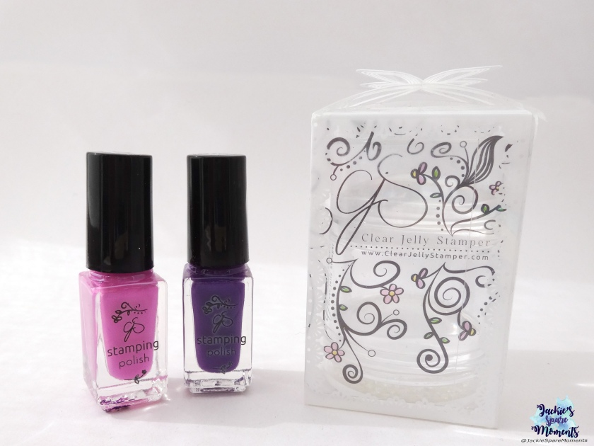 Clear Jelly Stamper, CJS stamping polish 016 and 019