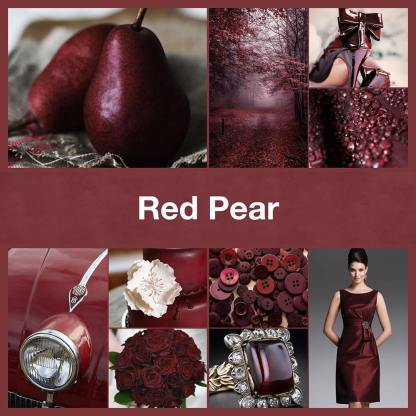 Inspirational collage Red Pear by @TheNailPolishHoarder