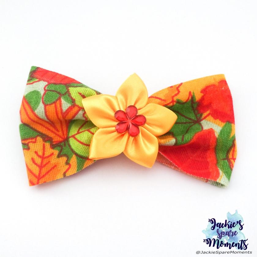 Bright autumn / fall hair bow