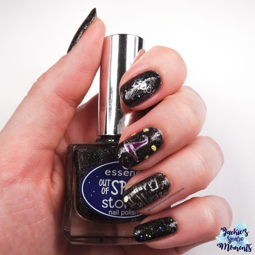 Happy Halloween nail art with BP-L099, holding essence out of space stories 07 1000 light years away