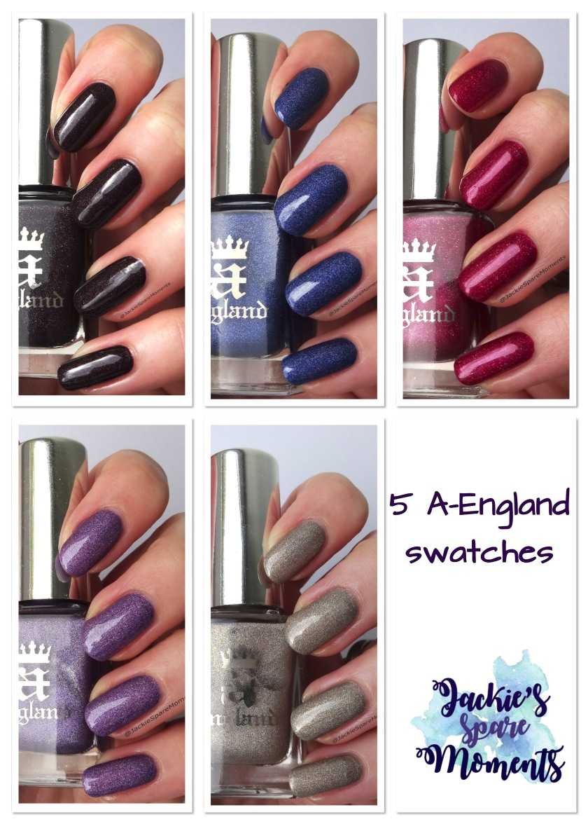 5 A-England swatches for fall/winter. Read all about them on the blog!