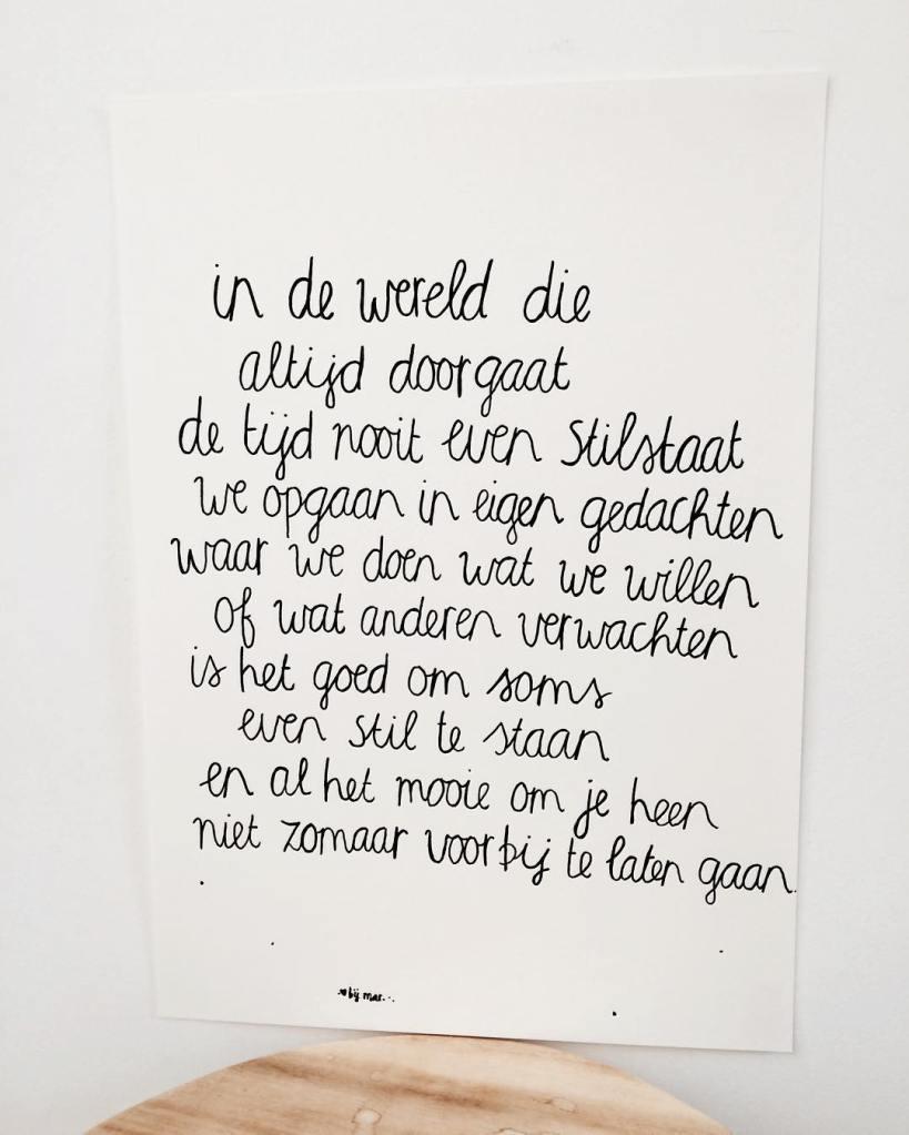 Mooie woorden van @bij_mar
