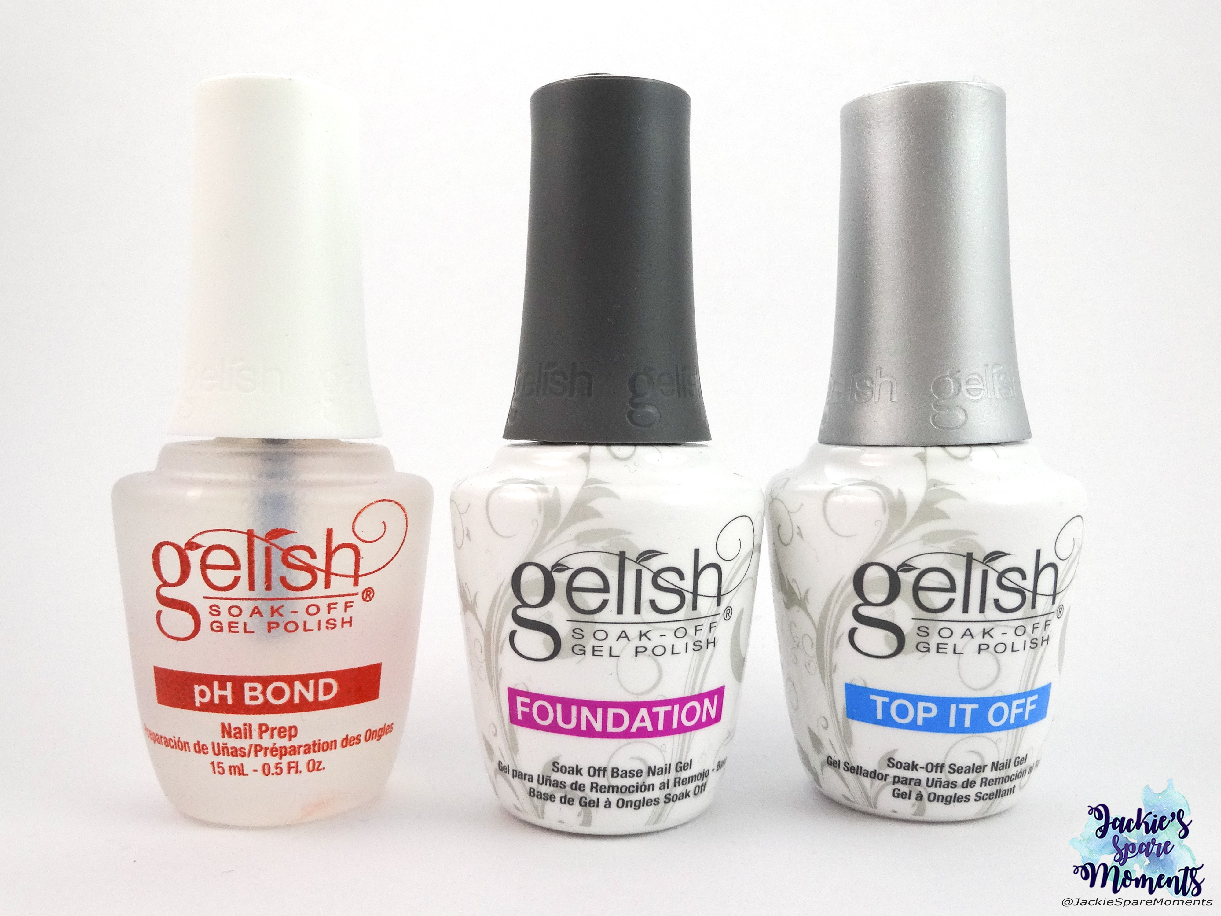 Gelish Terrific Trio: pH bond, Foundation and Top it off