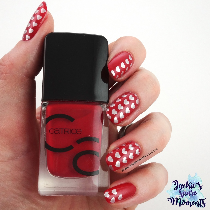 Valentine's Day nail art with Catrice ICONails Nail Lacquer 02 Bloody Mary To Go