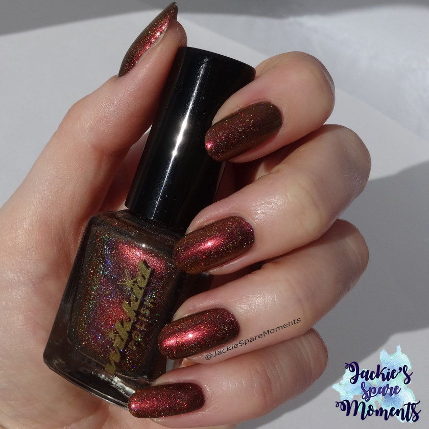 Wikkid polish Helene (holo) direct sunlight