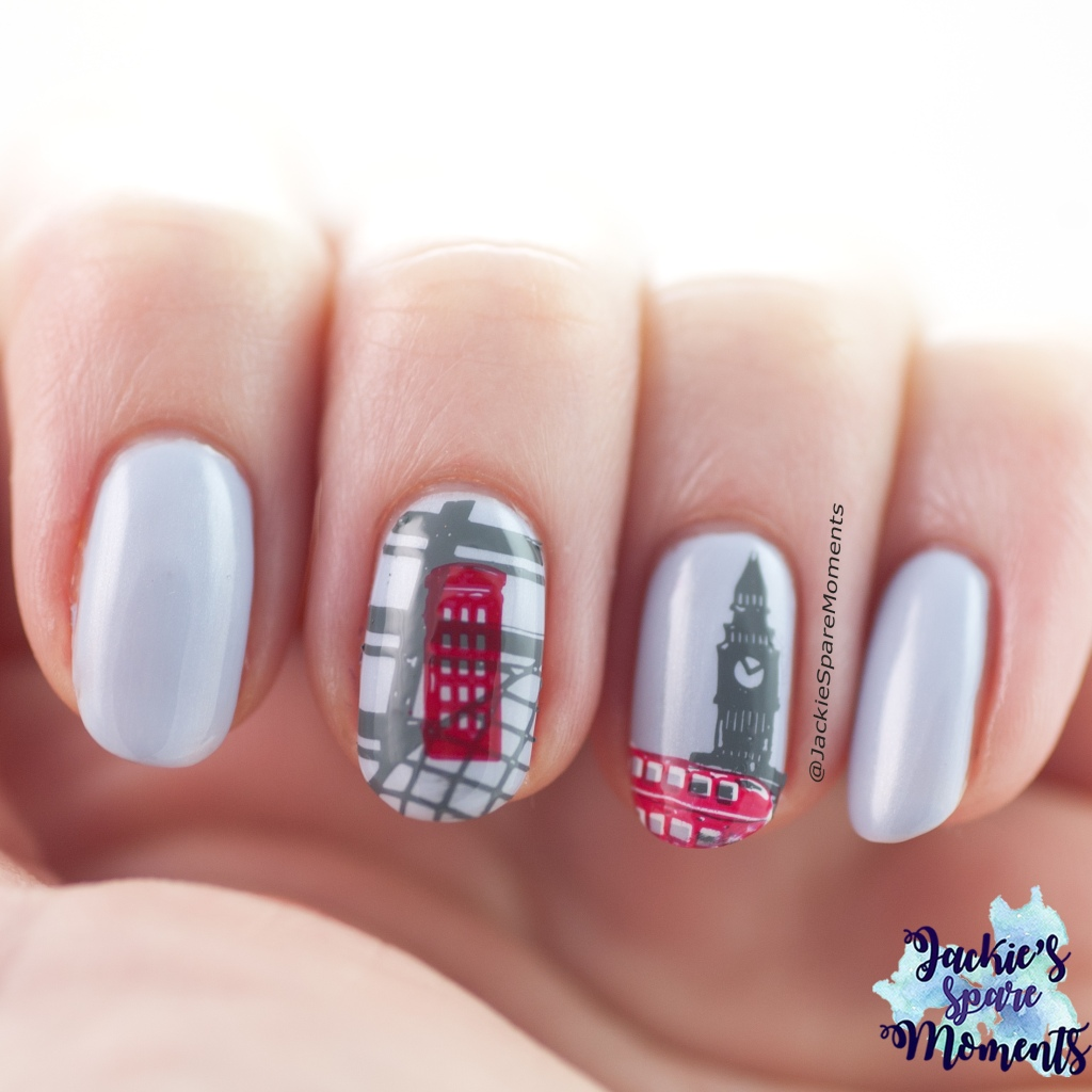 Nail art inspired by London