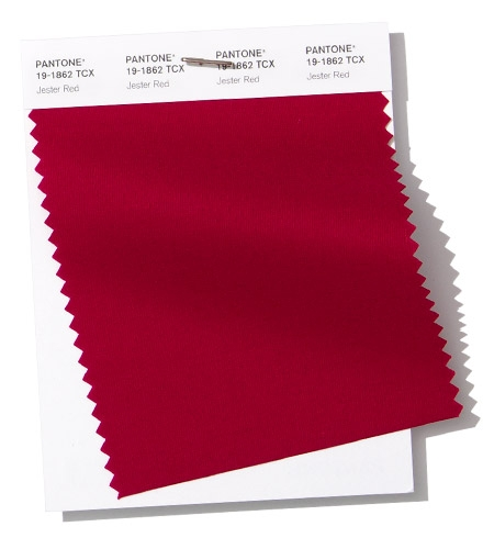 Pantone swatch Jester Red