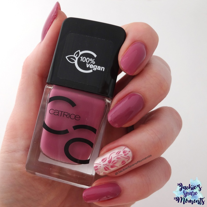Spring nail art with Catrice 73 I Have A Blush On You