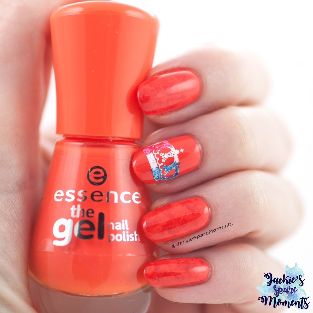 Nail art voor Koningsdag 2019, King's Day nail art with essence 96 orange to go