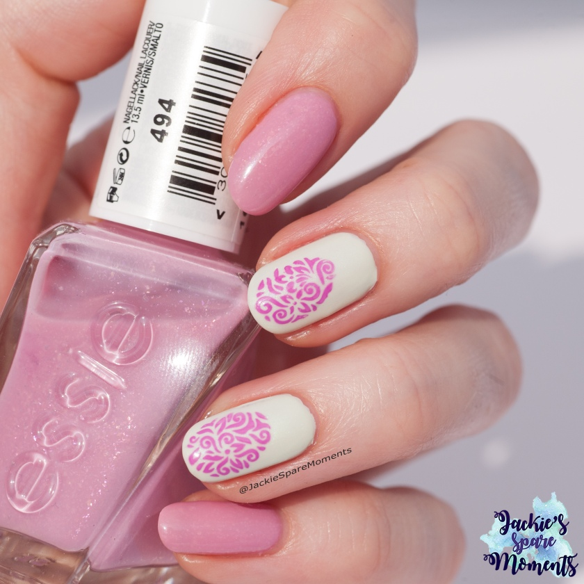 Easter nail art with Essie Gel Couture Moments to Mrs.
