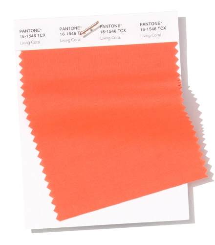 Pantone Swatch Living Coral