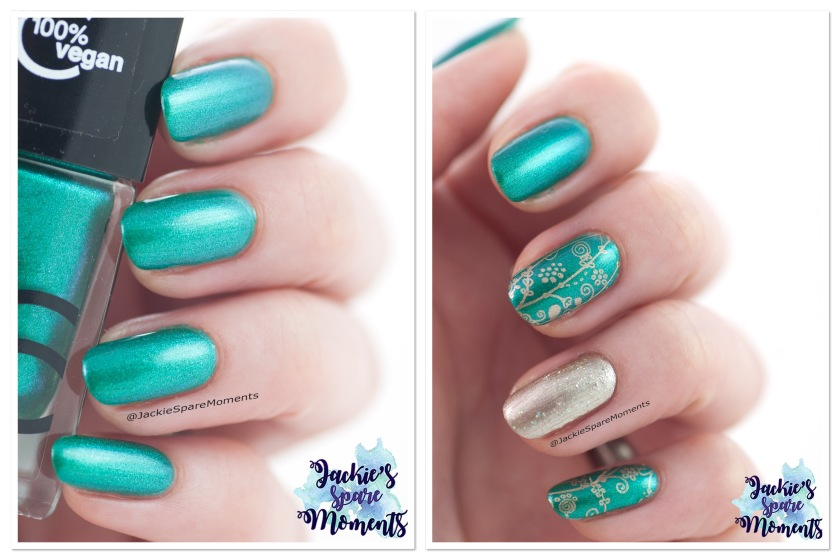 From nail polish swatch to nail art featuring Catrice ICONails 70 Easy Peasy Green Squeezy