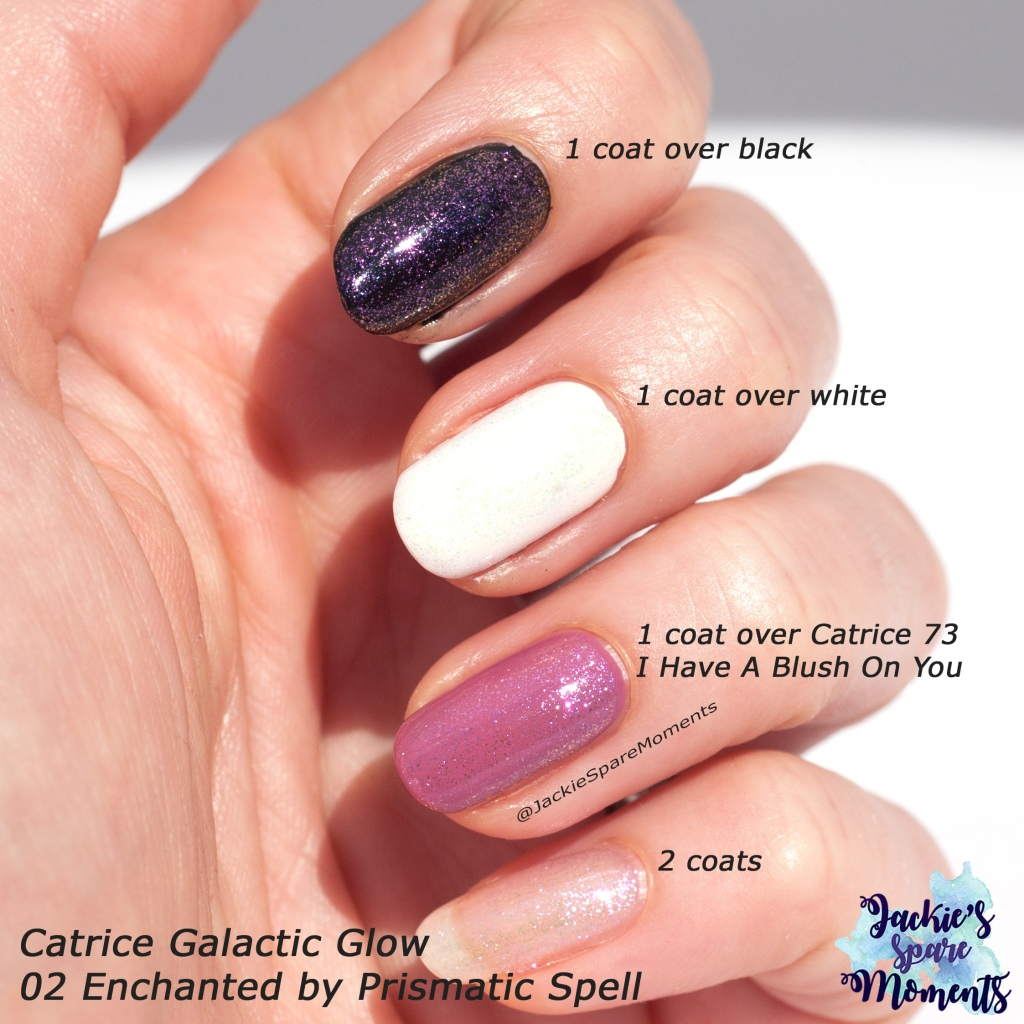 Swatches Catrice Galactic Glow 02 Enchanted by Prismatic Spell
