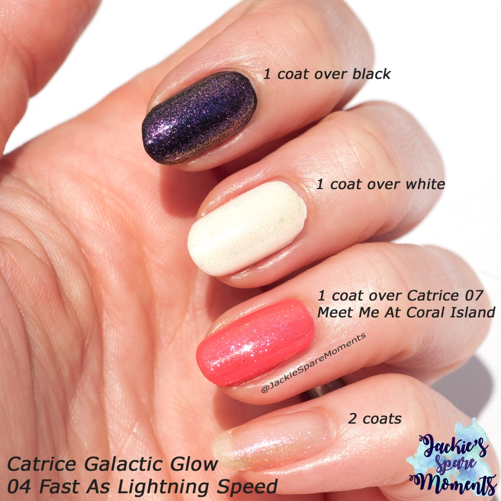Swatches Catrice Galactic Glow 04 Fast As Lightning Speed