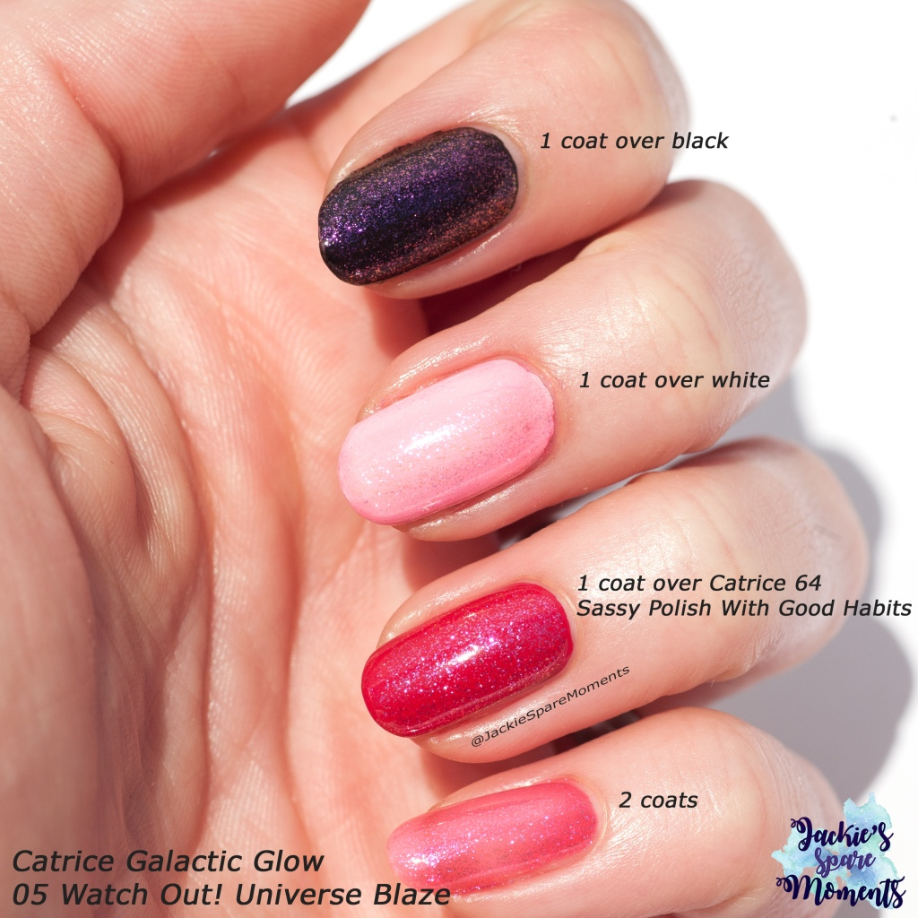 Swatches Catrice Galactic Glow 05 Watch Out! Universe Blaze