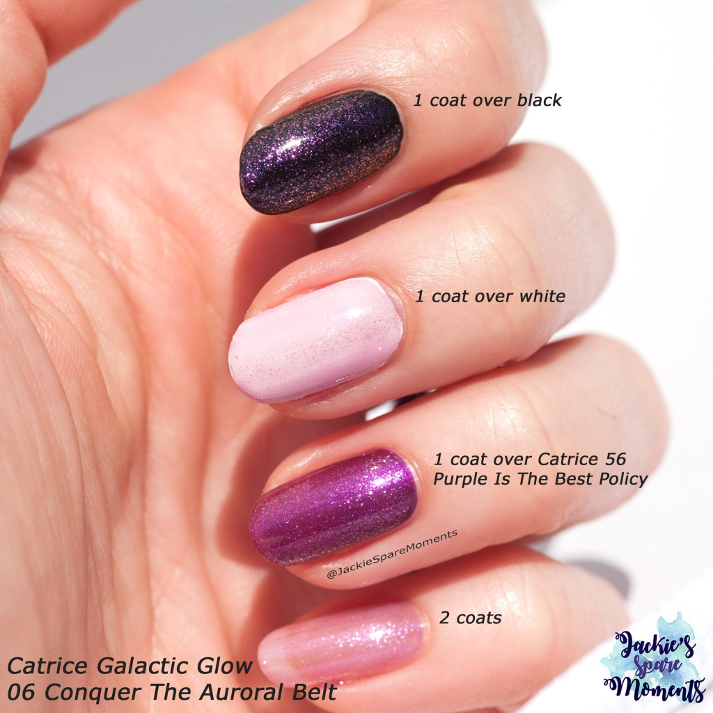 Swatches of Catrice Galactic Glow 06 Conquer The Auroral Belt