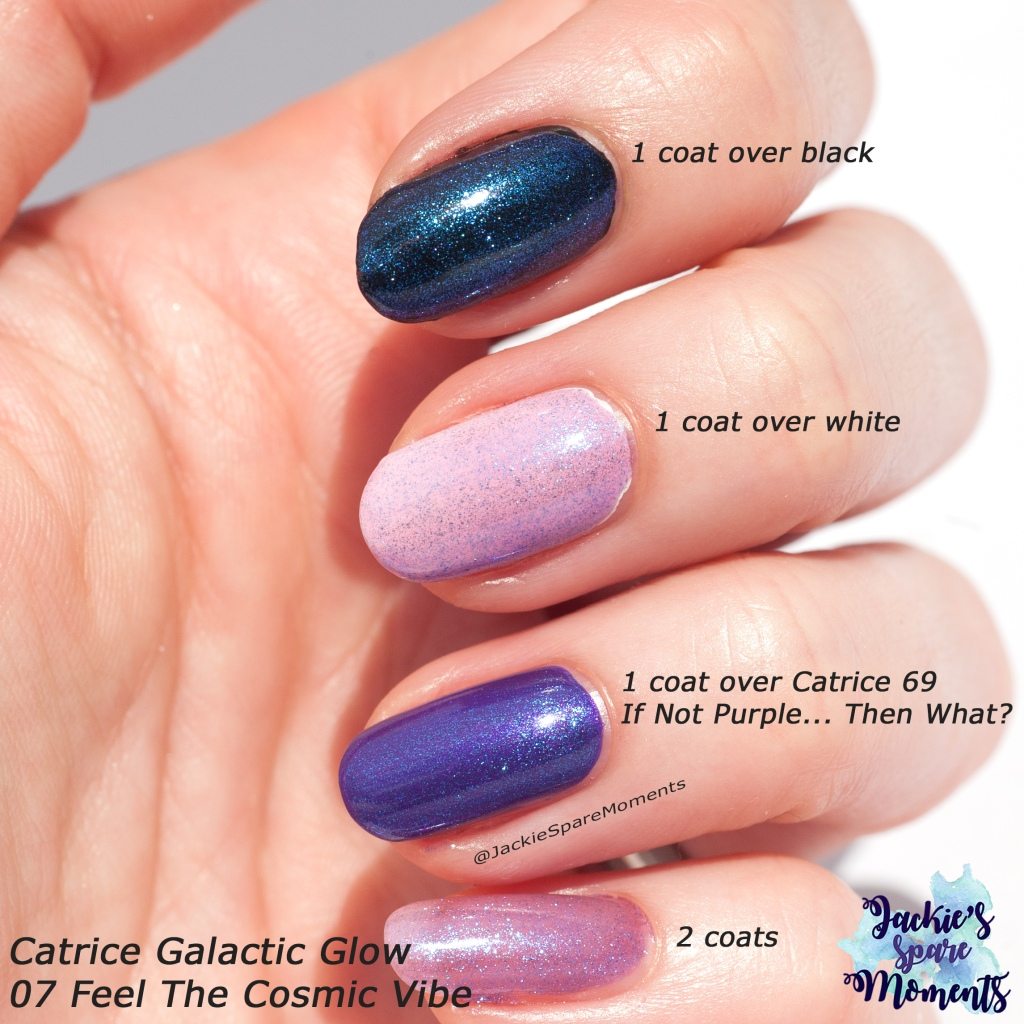 Swatches of Catrice Galactic Glow 07 Feel The Cosmic Vibe