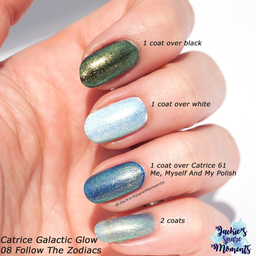 Swatches of Catrice Galactic Glow 08 Follow The Zodiacs