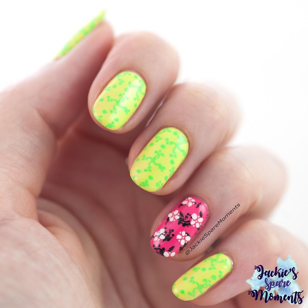 Neon nail art with KADS MIN 029