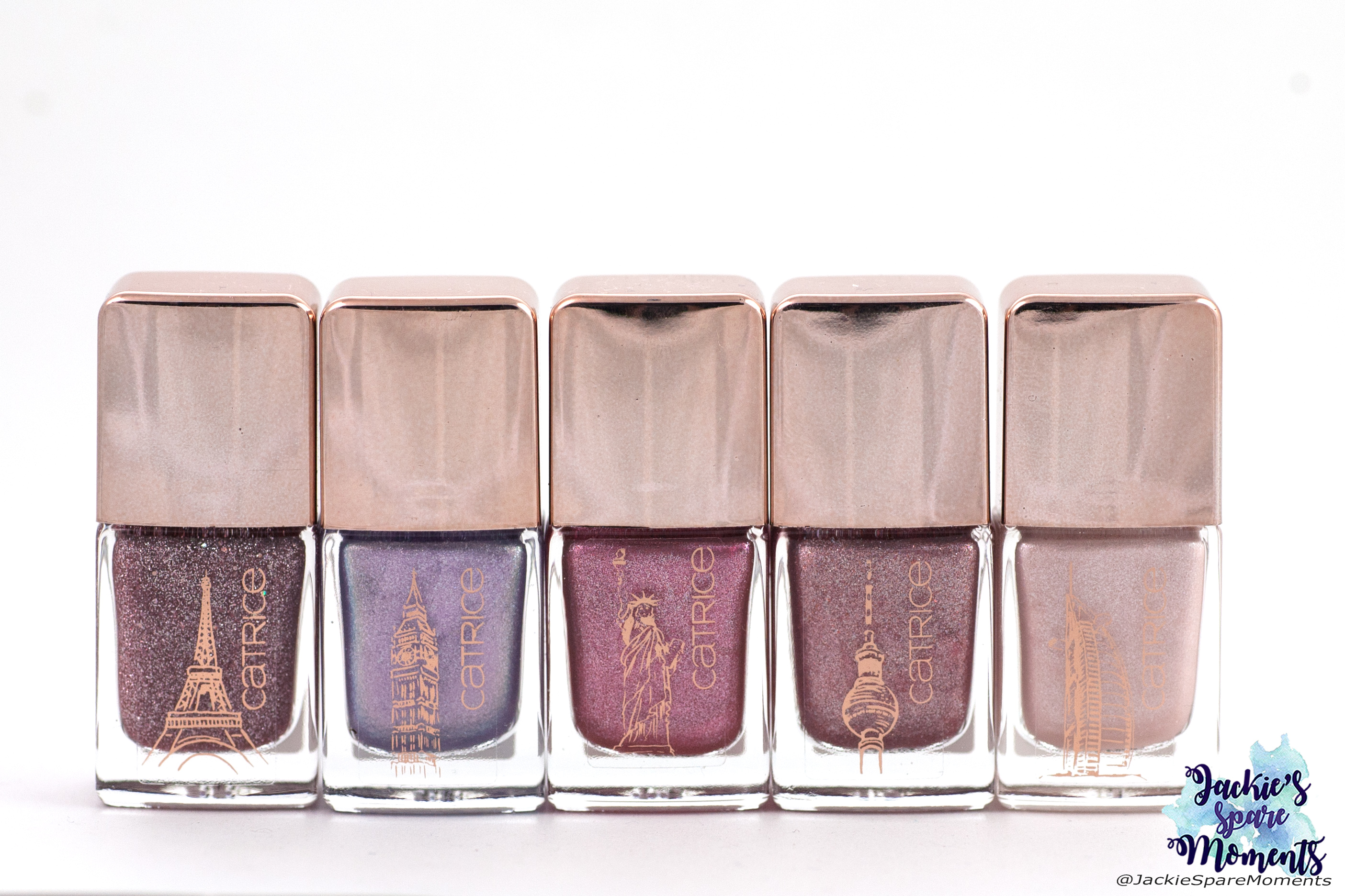 The 5 limited edition Travel ICONails shades