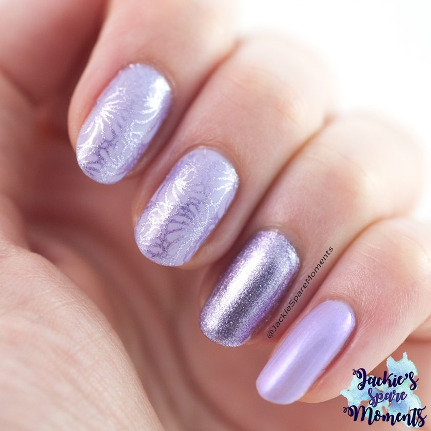Lilac nail art with Catrice polishes