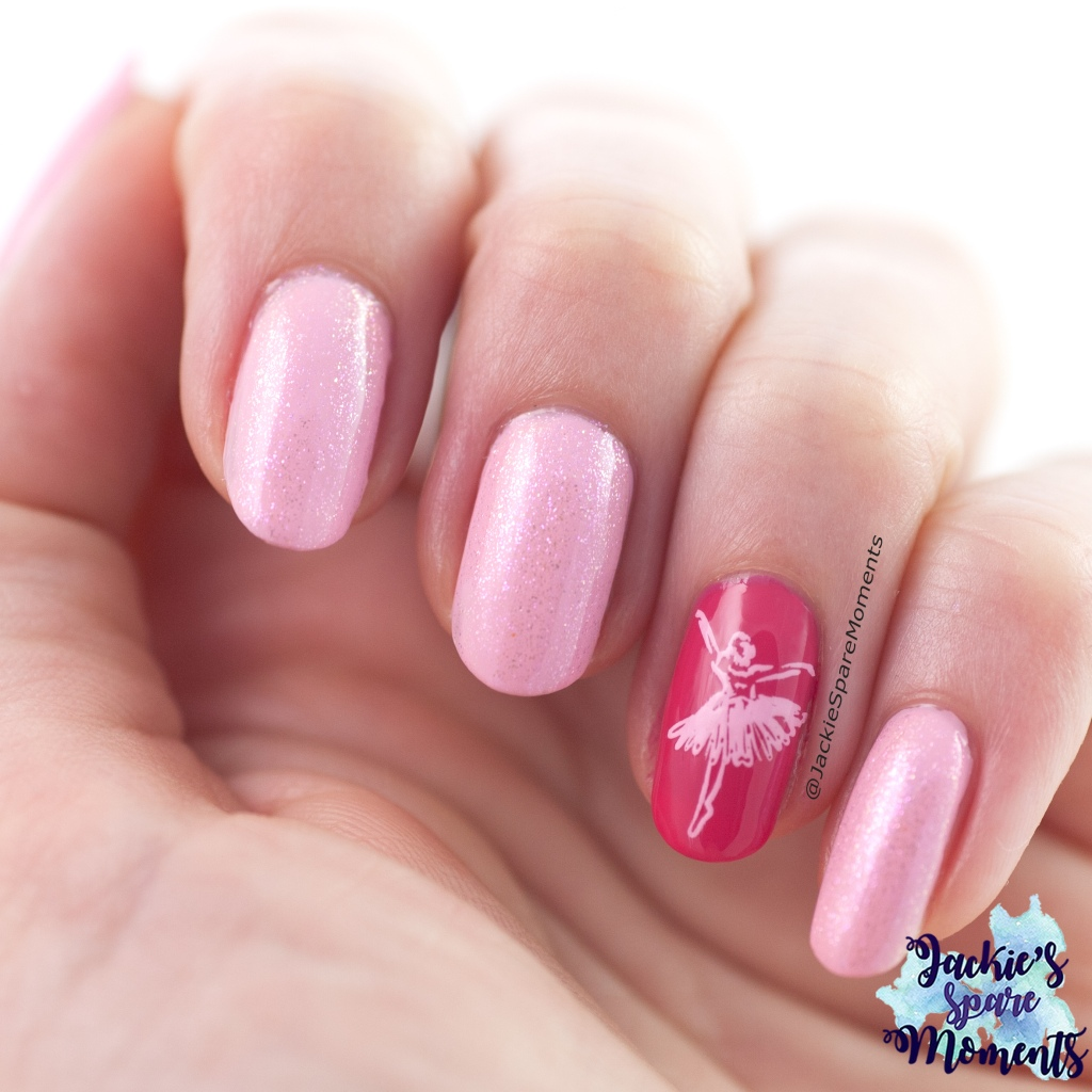 Ballerina nail art version 2