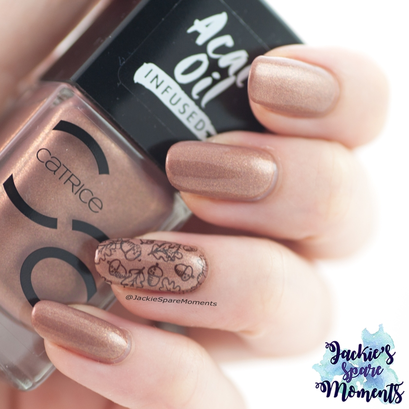 Fall nail art with Catrice ICONails 85 Every Sparkle Happens For A Reason