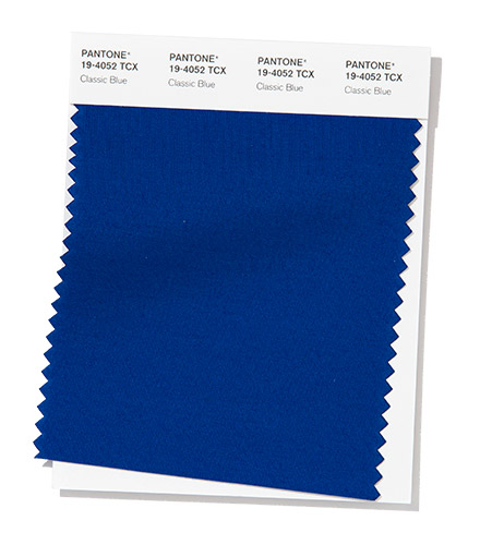 Pantone swatch Classic Blue, Color of the Year 2020