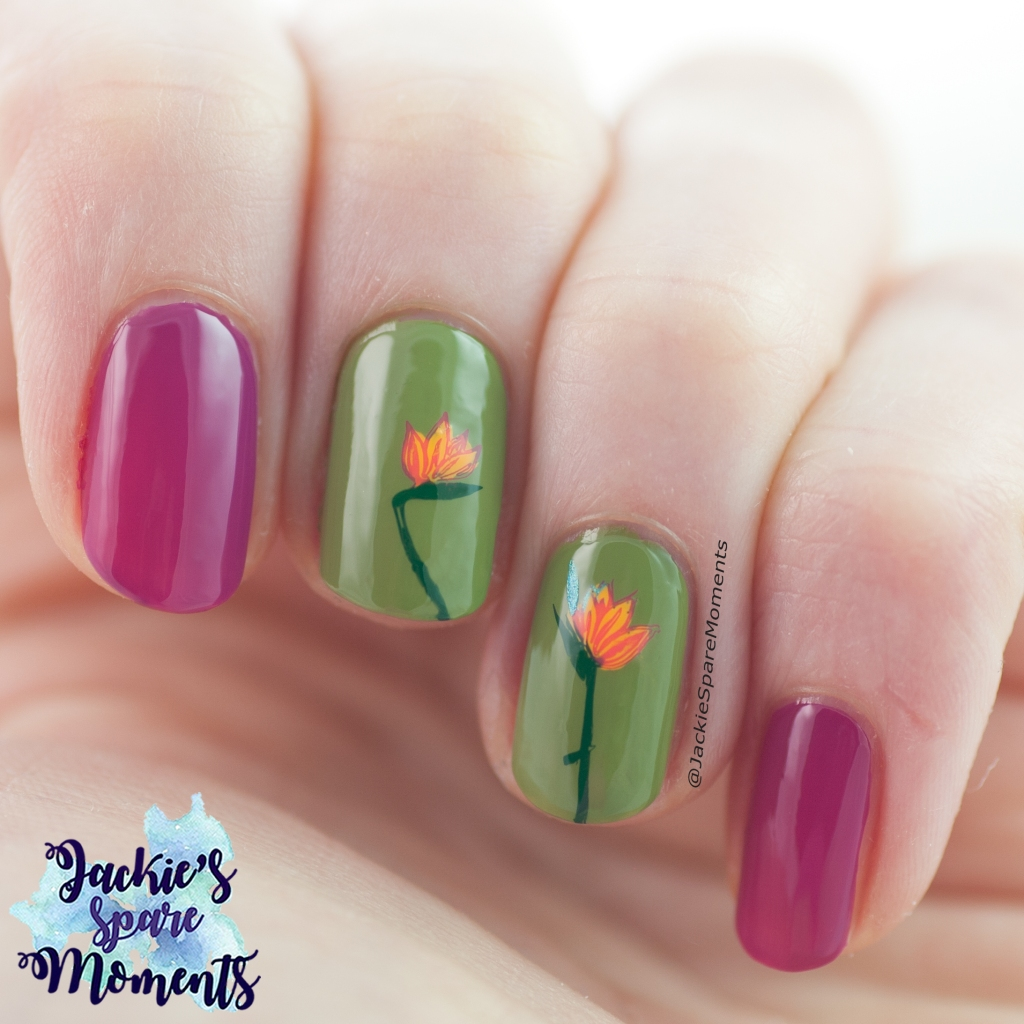 Bird of paradise nail art