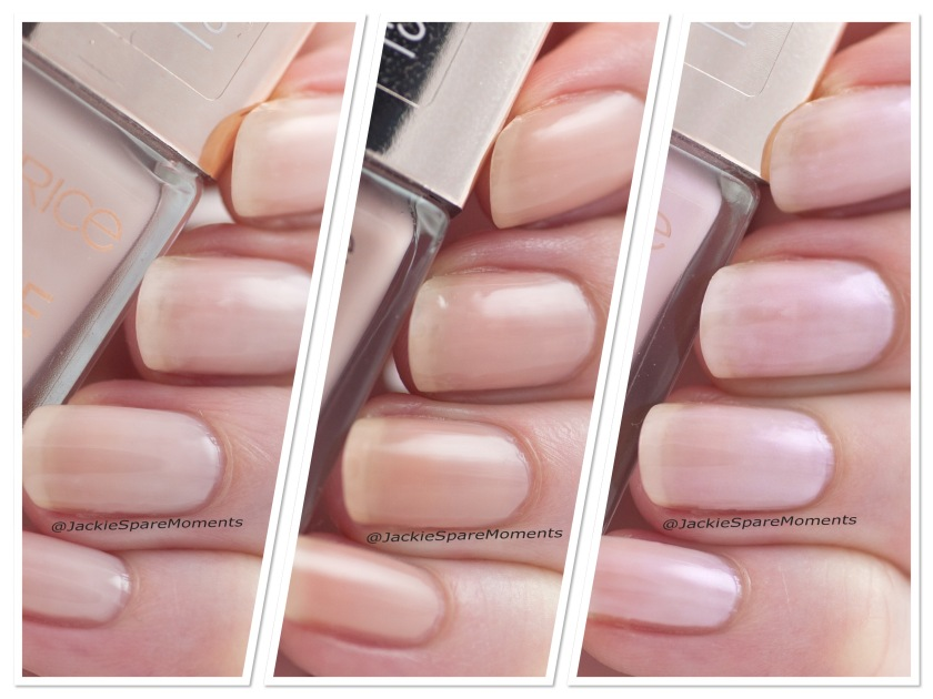 Nail polish swatch Catrice More Than Nude nail polish 06 Roses Are Rosy, 07 Nudie Beautie, 08 Shine Pink Like A ...