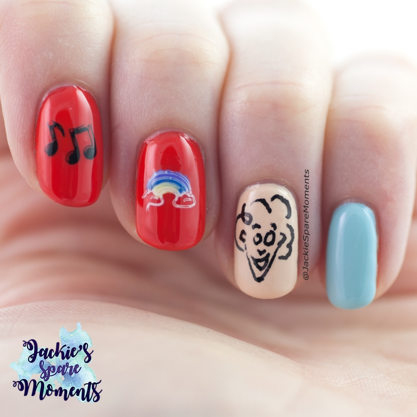 Nail art inspired by Jochem Myjer (Dutch comedian)