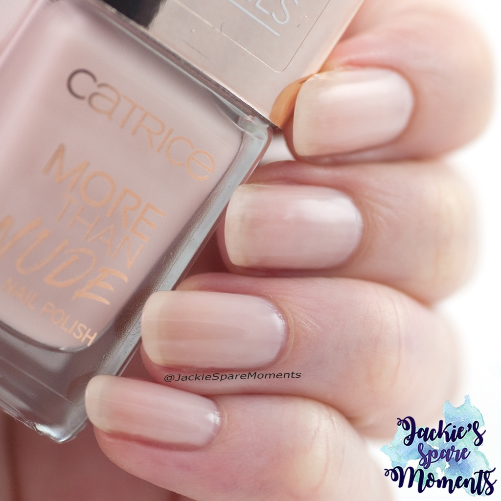 Nail polish swatch Catrice More Than Nude nail polish 06 Roses Are Rosy
