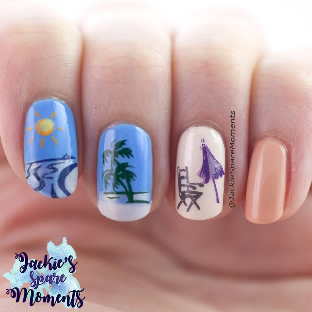 Summer holiday nail art