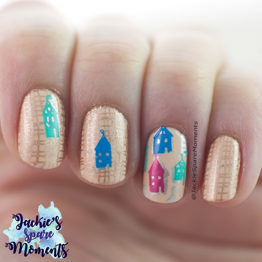 Home sweet home nail art