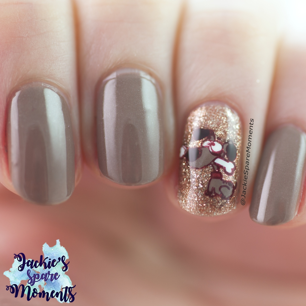 Happy Animal Day nail art with cute dog