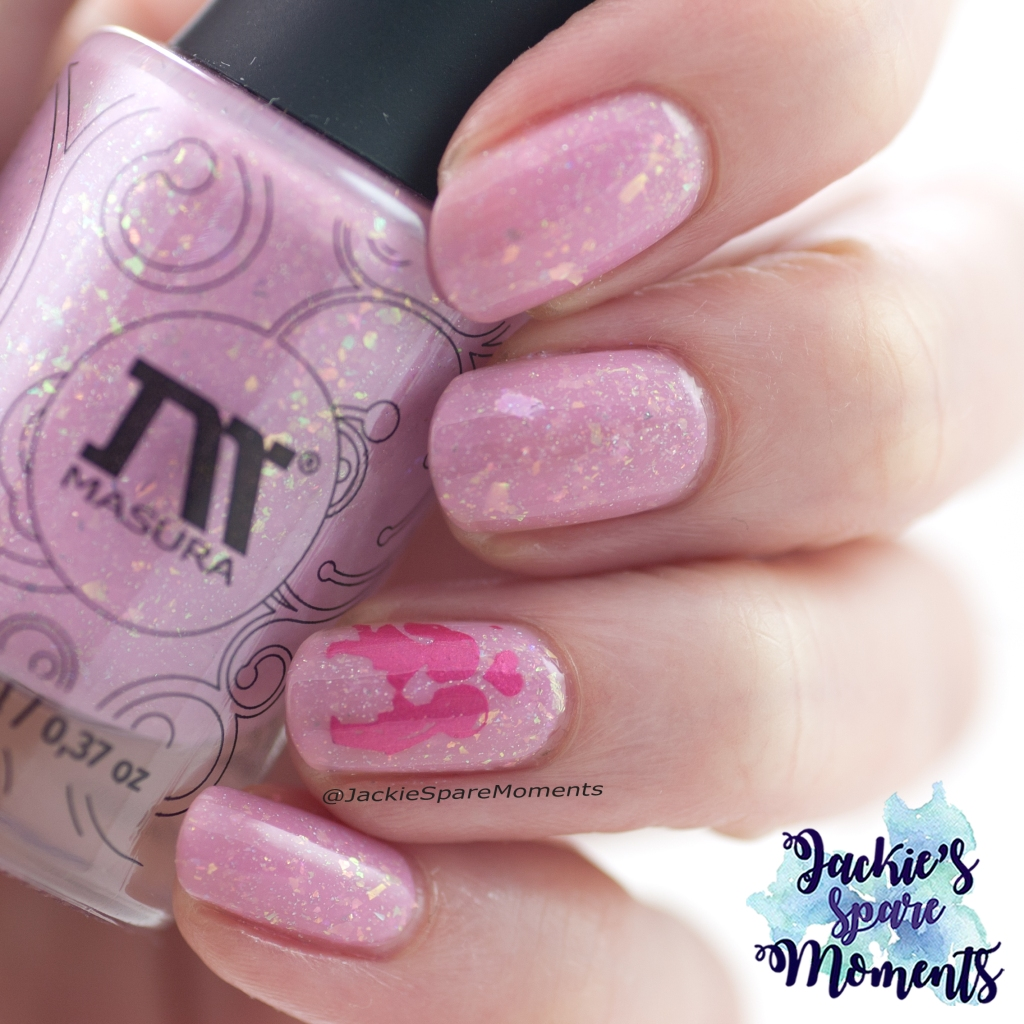 Valentine's nails with Masura Cotton Candy