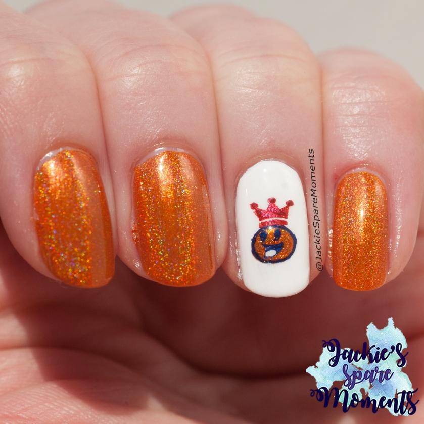Koningsdag nail art 2021, King's Day nail art