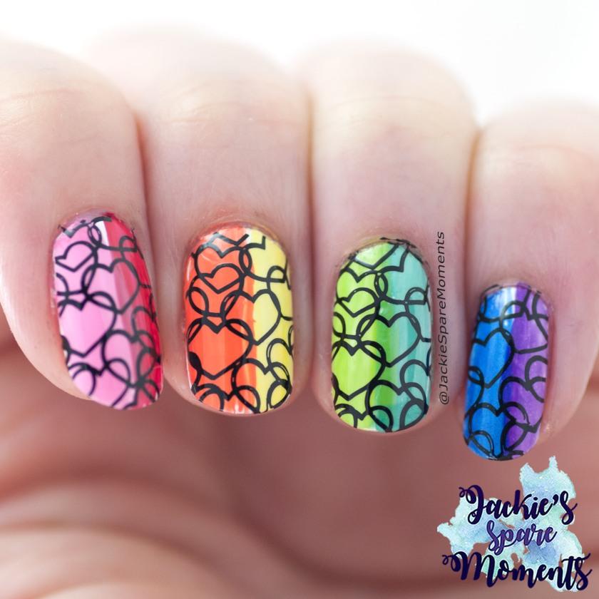 Pride nail art for 25 years of Pride Amsterdam