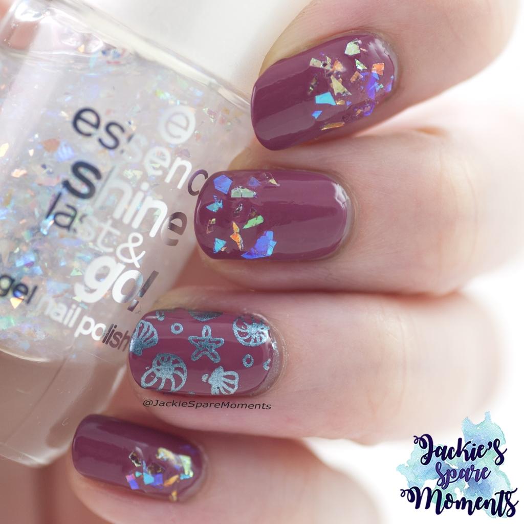 Flakie nail art with essence polishes